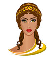 demeter greek goddess vector image vector image