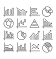 Diagram and Graphs Line Icons vector image