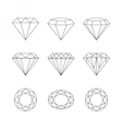 diamonds gemstones faceting patterns vector image vector image