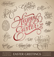 easter greetings hand lettering set vector image vector image