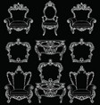 exquisite fabulous imperial baroque furniture set vector image vector image