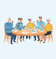 family meal father mother son and daughter vector image vector image