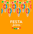 festa junina card colorful party balloons vector image