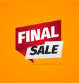 final sale a paper pointer bonus web banner on vector image vector image