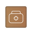 first aid icon on wooden blocks isolated on a vector image