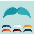 Flat design mustache vector image