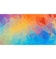flat triangle multicolor geometric wallpaper vector image vector image