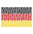 german flag mosaic of beer glass icons vector image vector image