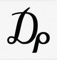 greek drachma sign vector image vector image