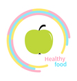 Green apple abstract round frame Diet concept vector image vector image