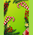 green christmas background with decorations vector image vector image