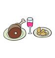 Handdrawn food vector image vector image