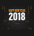 Happy new year 2018 golden and white 3d text with