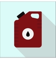Icon cans of engine oil Service concept Flat vector image vector image