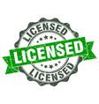 licensed stamp sign seal vector image vector image