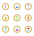 light icons set cartoon style vector image vector image