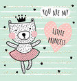 little princess card vector image vector image