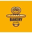 logo bread vector image