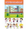 make your own scene vector image vector image