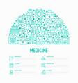 medicine concept in half circle vector image vector image