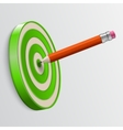 Pencil pointed to center of target vector image
