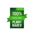 plant based natural product sticker organic vector image