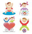 Playing children vector image vector image