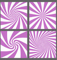 Retro spiral ray and starburst background set vector image vector image