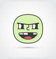 rowdy emoji face with big eyes eps10 vector image vector image