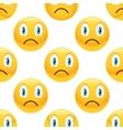 Sad emoticon pattern vector image vector image