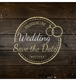 Save the date badges cards and labels for any use vector image vector image