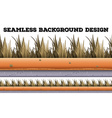 Seamless background with dry grass vector image