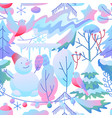 seamless pattern with winter items vector image vector image