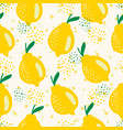 seamless summer pattern with whole yellow vector image vector image