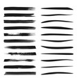 set brush and marker strokes vector image