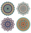set color floral mandalas vector image