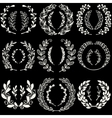 Set of handdrawn laurels and wreaths vector image