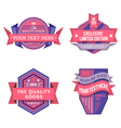 set of logo pink retro labels and vintage vector image vector image