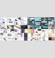 set of minimal presentations portfolio templates vector image vector image