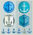 Set Of Vintage Retro Nautical Badges And Labels vector image vector image