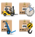 Shipment Icons Set 12 vector image vector image