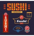 Signs sushi vector image
