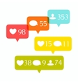 Social media buttons set vector image