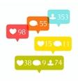 Social media buttons set vector image vector image