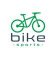 sports bike logo design vector image vector image
