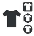 T-shirt icon set monochrome vector image