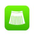 tennis female skirt icon digital green vector image