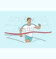 triumph race sport victory success vector image