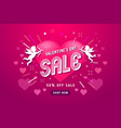 valentine day sale offer banner template vector image