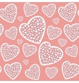 valentines day or wedding hearts seamless pattern vector image